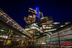 NordLB building in Hanover, Germany, at night Stock Images