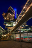 NordLB building in Hanover, Germany, at night Royalty Free Stock Photos