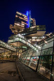 NordLB building in Hanover, Germany, at night Stock Image