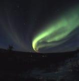 Nordleuchtebildschirmanzeige Stockfoto