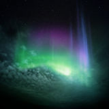 Nordleuchten (Aurora) Lizenzfreies Stockfoto