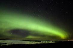 Nordleuchten Saskatchewan Kanada Stockbilder