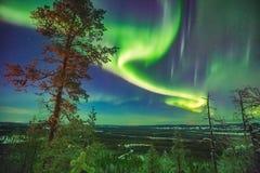 Nordlichter über Lappland Stockfoto