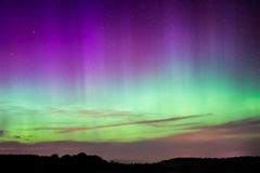 Nordlichter, Aurora Borealis Lizenzfreies Stockfoto
