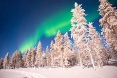 Nordlichter, Aurora Borealis in Lappland Finnland lizenzfreie stockbilder