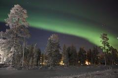 Nordlichter, finnisches Lappland Stockbilder