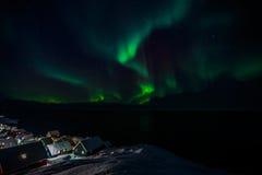 Nordlichter Greenlanic Stockfotos