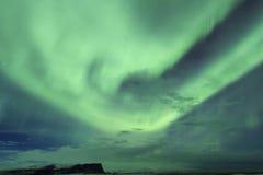 Nordlichter im Himmel von Island Stockbilder
