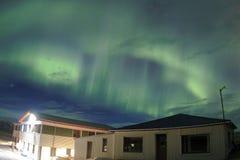Nordlichter im Himmel von Island Lizenzfreies Stockfoto