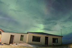 Nordlichter im Himmel von Island Stockbild