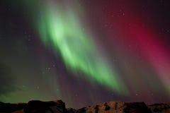 Nordlichter in Island Stockfotografie