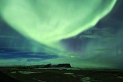 Nordlichter in Island Lizenzfreies Stockbild