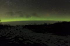 Nordlichter Island Lizenzfreies Stockbild