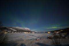 Nordlichter in Norwegen lizenzfreies stockbild