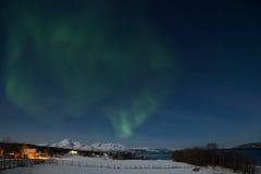 Nordlichter in Norwegen stockfotografie