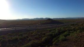 Nordlig antenn för Arizona huvudvägtrafik arkivfilmer