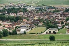 Nordlig Bourgogne, Chablis arkivfoton