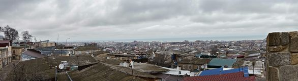 Nordlig Derbent panorama arkivbilder