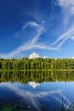 Nordlig flod och trän Arkivfoton