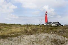 Nordlig fyr Schiermonnikoog Royaltyfria Bilder