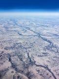 Nordlig Kanada flyg- sikt Royaltyfri Foto