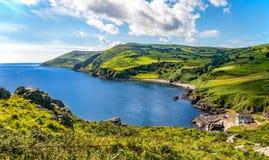 Nordlig kust av ståndsmässiga Antrim som är nordlig - Irland Arkivfoto