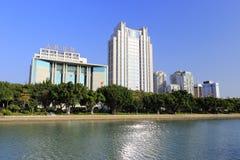Nordlig kust av yuandangsjön Arkivbilder