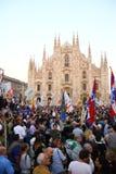 Nordlig liga Milan October 18, 2014 Arkivfoto