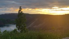 Nordlig Minnesota soluppgång Arkivbild