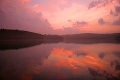 nordlig ontario för lake solnedgång Arkivfoton
