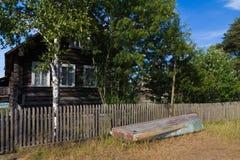 Nordlig rysk by royaltyfri fotografi