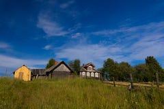 Nordlig rysk by arkivbild