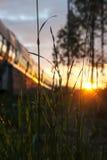 Nordlig solnedgång royaltyfri bild
