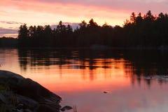 Nordlig soluppgång Arkivbild