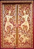 Nordlig thailändsk dörr för stilbuddistkyrka Royaltyfria Foton