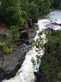 Nordlig Wisconsin vattenfall i sommar Arkivbilder