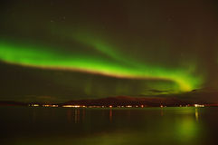 nordliga iceland intensiva lampor royaltyfria foton