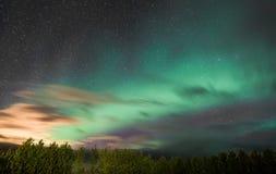 Nordliga lampor över Island Royaltyfri Bild
