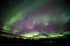 Nordliga lampor över Island Royaltyfria Foton