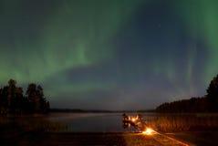 Nordliga lampor 2 Fotografering för Bildbyråer