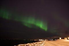 Nordliga lampor Arkivbild