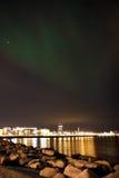 Nordliga lampor Arkivfoto