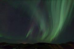 Nordliga lampor Arkivfoton