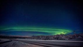 2 nordliga lampor Arkivfoto