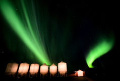 Nordliga lampor Kanada Arkivfoto