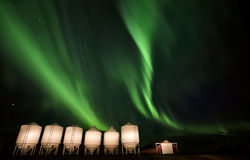 Nordliga lampor Kanada Arkivfoton