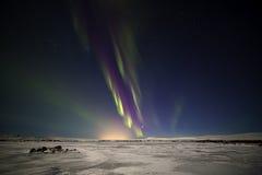 Nordliga ljus Þingvellir V Arkivfoto