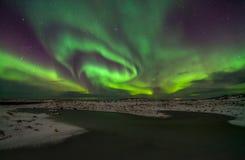 Nordliga ljus Arkivbilder