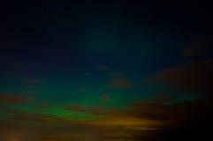 Nordliga ljus Arkivfoton