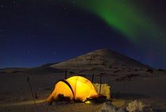 Nordliga ljus Arkivfoto